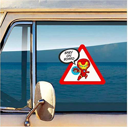 Autocollant Voiture B/éb/é /à bord Captain America Ironman Baby on Board car Sticker Baby an Bord Aufkleber