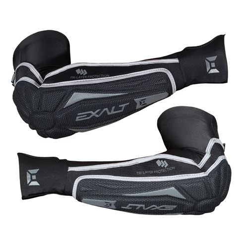 - Exalt Paintball T3 Elbow Pads - Black/Grey - Medium/Large