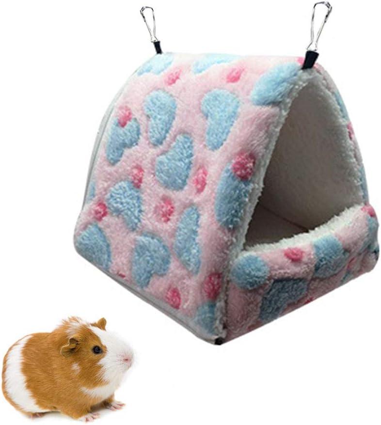 Small Animal Cage Accessories Bedding for Hamster Chinchilla Ferret Squirrel Degu Plush Sugar Glider Hammock Nest Home Oncpcare Detachable Winter Warm Guinea Pig Bed
