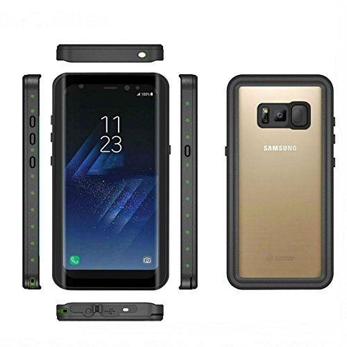 Seabiscuit Galaxy S8 Case Shockproof Waterproof Case For Samsung Galaxy S8(5.8inch)—Black & Transparent