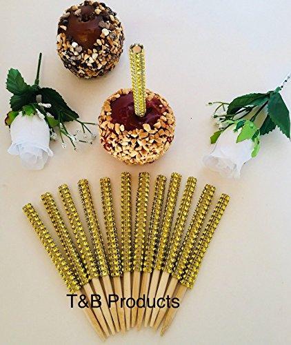 BLING GOLD 12 pc Candy Apple Sticks USPS First Class -
