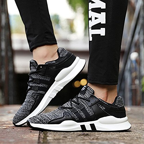 3 Up Shoes Breathable Trainers Womens 36 Walking Meurry Outdoor Gray Trainers Shoes Lace Running Mens Casual Shoes Sports Fitness Lightweight Sneaker Gym 46 Shoes fqqwgHv0