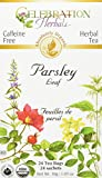 Celebration Herbals Organic Parsley Leaf Tea Caffeine Free, 24 Herbal Bags