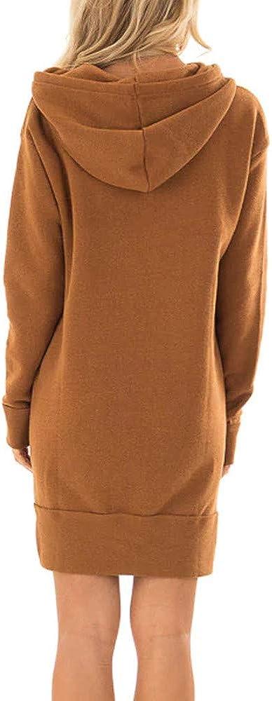 Millenniums Sweats /à Capuche Mini Robe avec Poche /Épais Chaud Hiver No/ël Confortable Pulls Streetwear Spotlight Chic Cool Street Fashion Sweat Mode Femmes Hiver Surv/êtement
