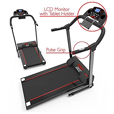 Smart Digital Folding Exercise Machine - Electric Motorized Treadmill with Downloadable Sports App for Running & Walking - Pairs to Phones, Laptops, & Tablets via Bluetooth - SereneLife SLFTRD18 SLFTRD18 from Sound Around -- Dropship