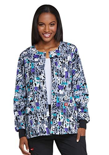 Dickies EDS DK301 Women's Snap Front Warm-Up Jacket (Front Shirt Jacket Snap)