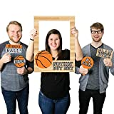 Nothin' But Net - Basketball - Birthday Party or Baby Shower Photo Booth Picture Frame & Props - Printed on Sturdy Plastic Material