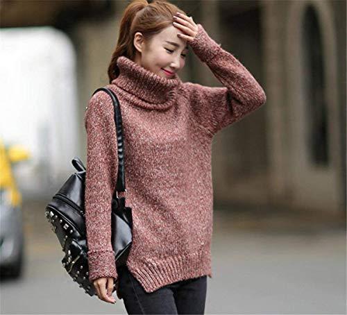 Collo Collo Collo Rote Donna Donna Donna Mag Calda A Termico Pullover Fashion Maglione Alto Vintage Nvfshreu ETPx4qEd