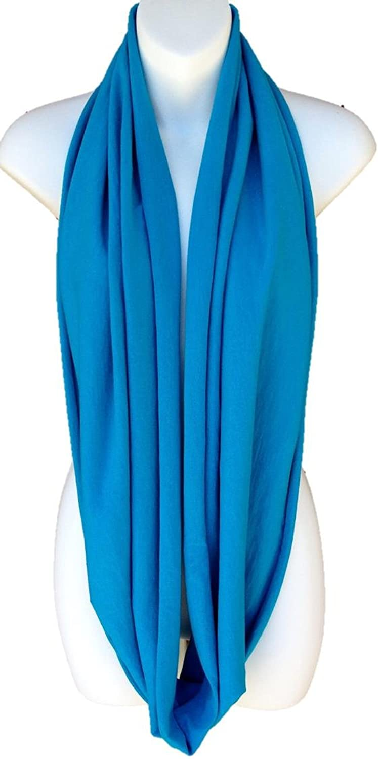 Turquoise All In One Jersey Tube Infinity Scarf Circle Vest Shawl Capelet Hood