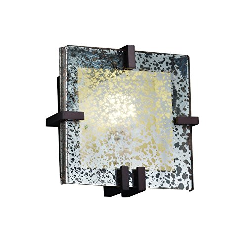 Justice Design Group Lighting FSN-5550-MROR-DBRZ Clips Square Wall Sconce (Clips 5550 Square)