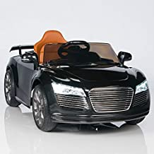 Audi R8 Style Kids 12V Battery Powered Wheels Ride On Car MP3 RC Remote Black