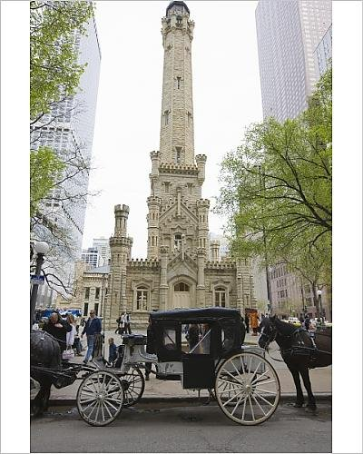 Photographic Print of The Historic Water Tower, North Michigan Avenue, Chicago, Illinois, - Plaza Water Chicago Tower