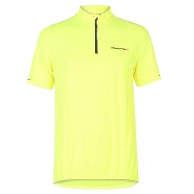 Muddyfox Hombre Camiseta Manga Corta De Ciclismo Amarillo L ...