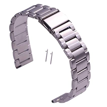 Amazon.com: KuToo 0.709 in 0.787 in correa de reloj de acero ...