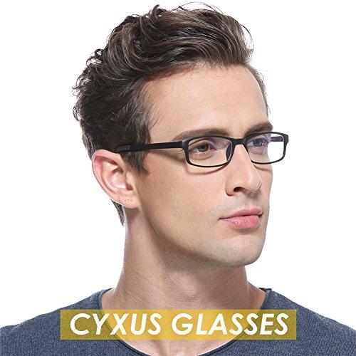 Cyxus Blue Light Blocking [Lightweight TR90] Glasses for Anti Eye Strain Headache Computer Use Eyewear, Men/Women (TR90 black) by Cyxus (Image #7)