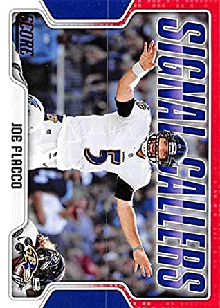 2018 Score Signal Callers Red Football #3 Joe Flacco Baltimore Ravens Official NFL Trading Card