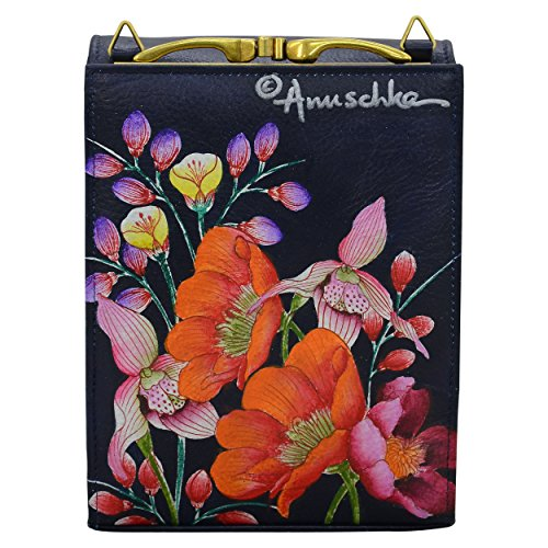 For Cross Body Handbags Women Designer moonlit Leather Hand 412 Mlm Meadow Anuschka Painted Organiser Mini BwnxAz8AI