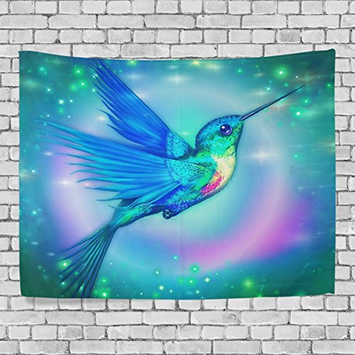 Custom Tapestry Hummingbird Tapestry Wall Decor Living Room, Throw Bedspread, Dorm Tapestries 80 x 60 inches]()