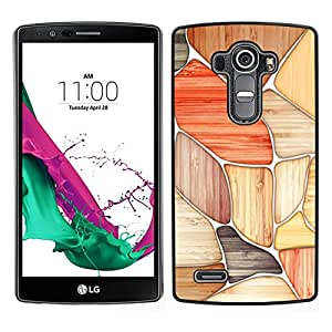 LECELL--Funda protectora / Cubierta / Piel For LG G4 -- Modelo rojo Negro Beige Blanco --