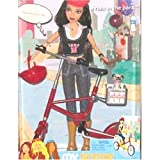 My Scene a ride in the park with Nolee Doll - include bicycle, helmet, sunglasses, water bottle, ball, frisbee