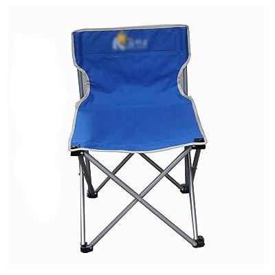 Anna Chaise d'escalade Chaise pliante en plein air Portable Chaise décontractée de plage Tabouret de pêche pliable Dossier Chaise d'écriture Chaise d'extérieur Chaise En option ( Couleur : Bl