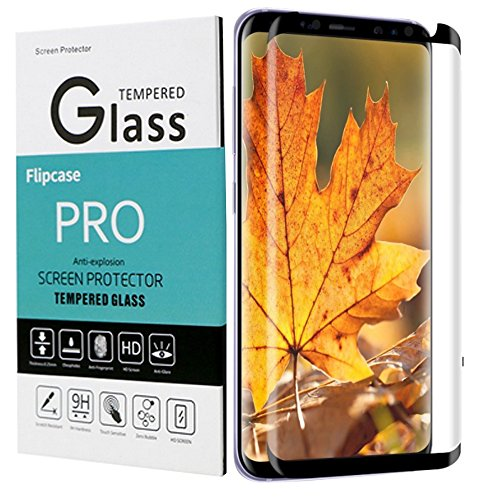 Galaxy S8 Screen Protector,Flipcase Galaxy S8 Tempered Glass, [9H Hard][Case Friendly][Anti-Scratch] Glass Screen Protector for Samsung Galaxy (Hard Case Screen Protector)