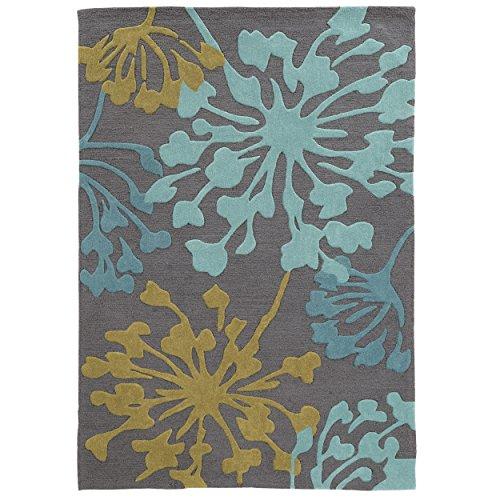 Linon Hand Tufted TRIO Dandelion Grey Polyester Rug (5' X 7') - Trio Collection Rectangular Rug