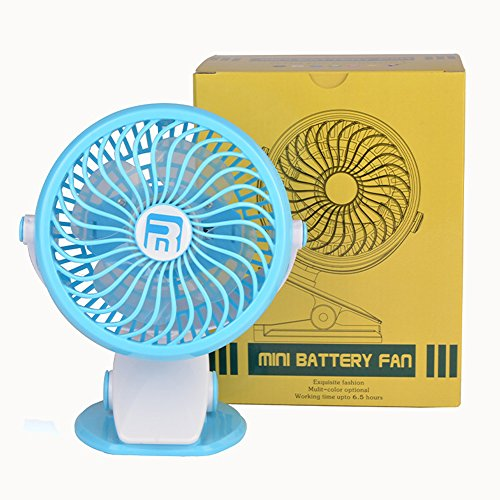 XYTMY Clip on and Desk Fan, Portable Mini USB Fan with 3 Speeds, Silence 2200mAh Battery Operated Fan, 360 Degree Rotation, Suitable for Office Bedroom by XYTMY