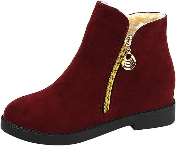 pour Femmes Chaussures Plates Maintien au de en Theshy Bottes Plates Chaussures Bottines Femme Bout Rond Talon Bottes Bottes Martain Daim zippées à tQrhdsC