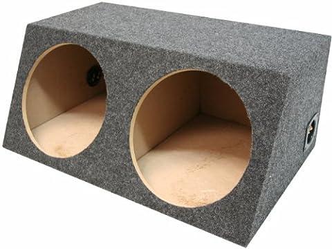 American Sound Connection H212 2 x 12-Inch Deep Angle Round Sub Box (Dual) (12 2 Sub)