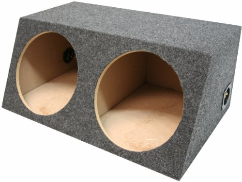 American Sound Connection H210 2 x 10-Inch Deep Angle Round Sub Box (Dual)