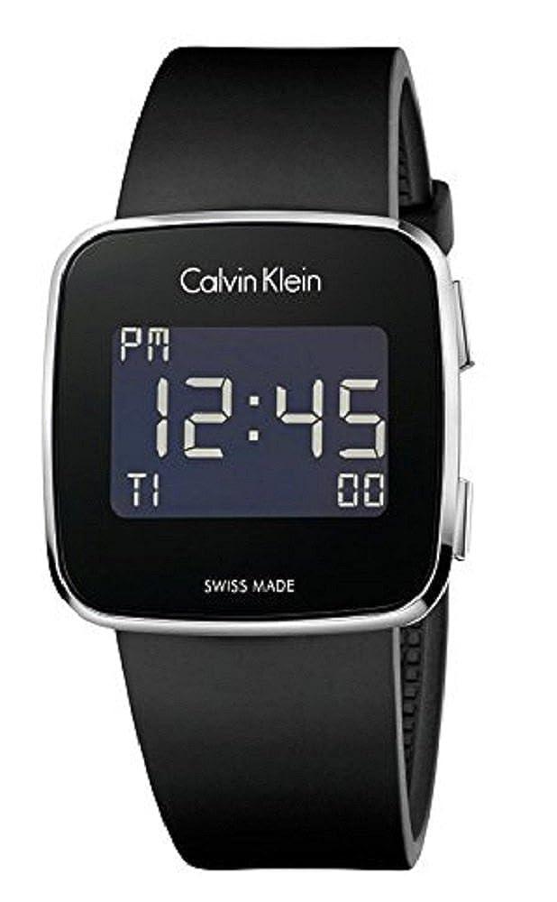 e563da34921e Calvin Klein Square Black Silicone Digital Future Mens Watch K5C21TD1   Amazon.ca  Watches