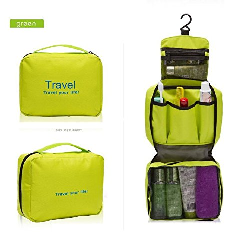 iiou grün Unisex einfachen Aufhängen Reisen Gym faltbar Wandern Make-up-Tasche
