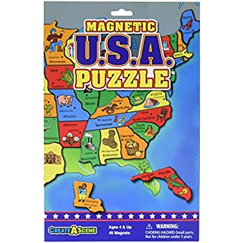 Amazoncom AtaBoy Magnetic USA Map PlaynLearn Puzzle Board