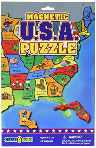 - Create-A-Scene Magnetic Playset - USA Puzzles