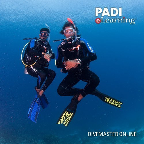 (PADI Online Divemaster Diver Course Scuba Diving eLearning Divemaster Certification On Line Classroom Dive Books)