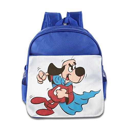 HYRONE Under Super Dog Kids School Bagpack For 1-6 Years Old RoyalBlue