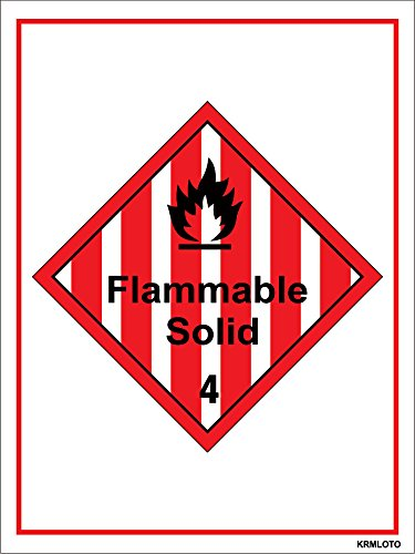 Self Adhesive Labels - Flammable Solid (Set of 50 pcs)