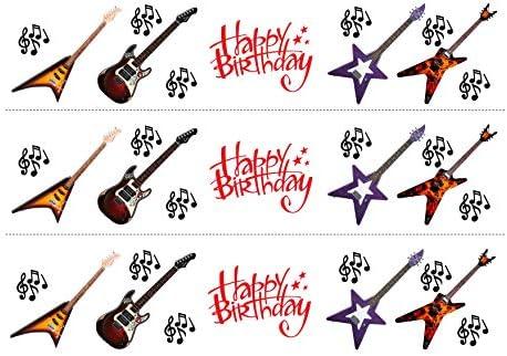 Rock guitarra eléctrica nota musical cumpleaños mezcla comestible ...