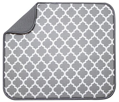S&T 497400 Microfiber Dish Drying Mat, 16 by 18-Inch, White (Dish Drying Mats)