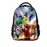 YOURNELO Kid's Cool School Backpack Bookbag Rucksack Bag for Boys (Ma)