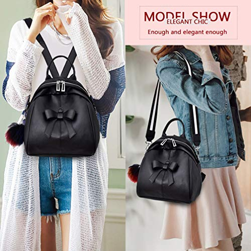 Small Girls Mini Black School Backpack Women Daypacks and Cute Purse Casual Traveling Teen for xvS1FRq0w