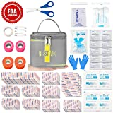 First Aid Kit 81 Piece Professional for Outdoor Sports Injuries Comprehensive Protection Water Resistant Case Safety Emergency Kit for Adventures Camping Travel Hiking Boat