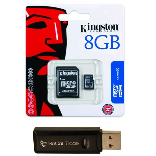 SoCal Trade Products - Kingston 8 GB 8gb  Class 4 MicroSDHC
