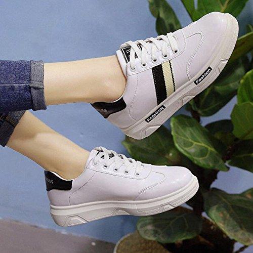 Scarpe corsa da casual Scarpe da pizzo con suola Pu rosso verde Black donna in Sneakers nero Nuove GAOLIXIA scarpe spessa Primavera ArFAOxg