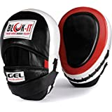 GEL Focus Pads: By Blok-IT --- [Focus Mitts, Punch Mitts, Hook & Jab Pads, Punching Mitts] --- Suitable For Boxing, MMA, Thai Boxing, Kickboxing, Boxercise, Karate, Taekwondo, Krav Maga, Wing Chun & Other Martial Arts