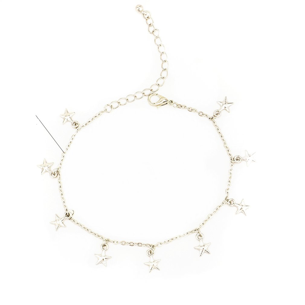 Meolin Star Anklet Adjustable Chain Anklets for Women Foot Chain Jewelry
