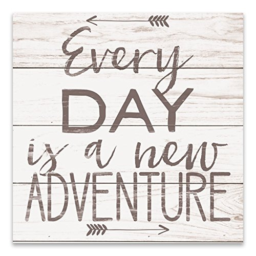 Olga212Patrick Every Day is A New Adventure Wall Plaue Sign 18x18 inches. by Olga212Patrick