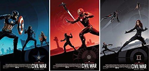c2ed4df93e8 CAPTAIN AMERICA: CIVIL WAR Set of 3 Original Promo Movie Posters 9.5