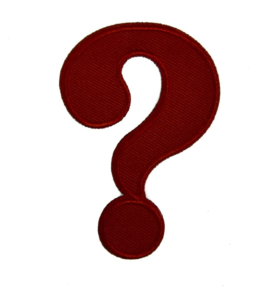 Question Mark Patch Iron on Applique Alternative Clothing